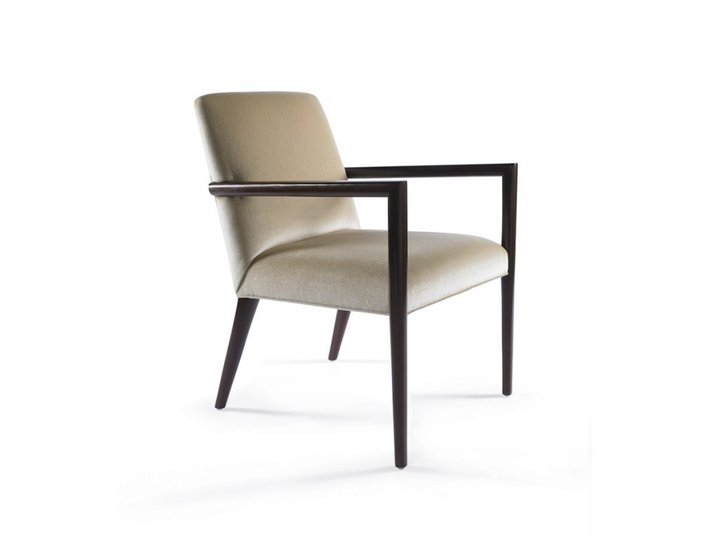 Zack Arm Chair with Wood Arm and Back Legs 1