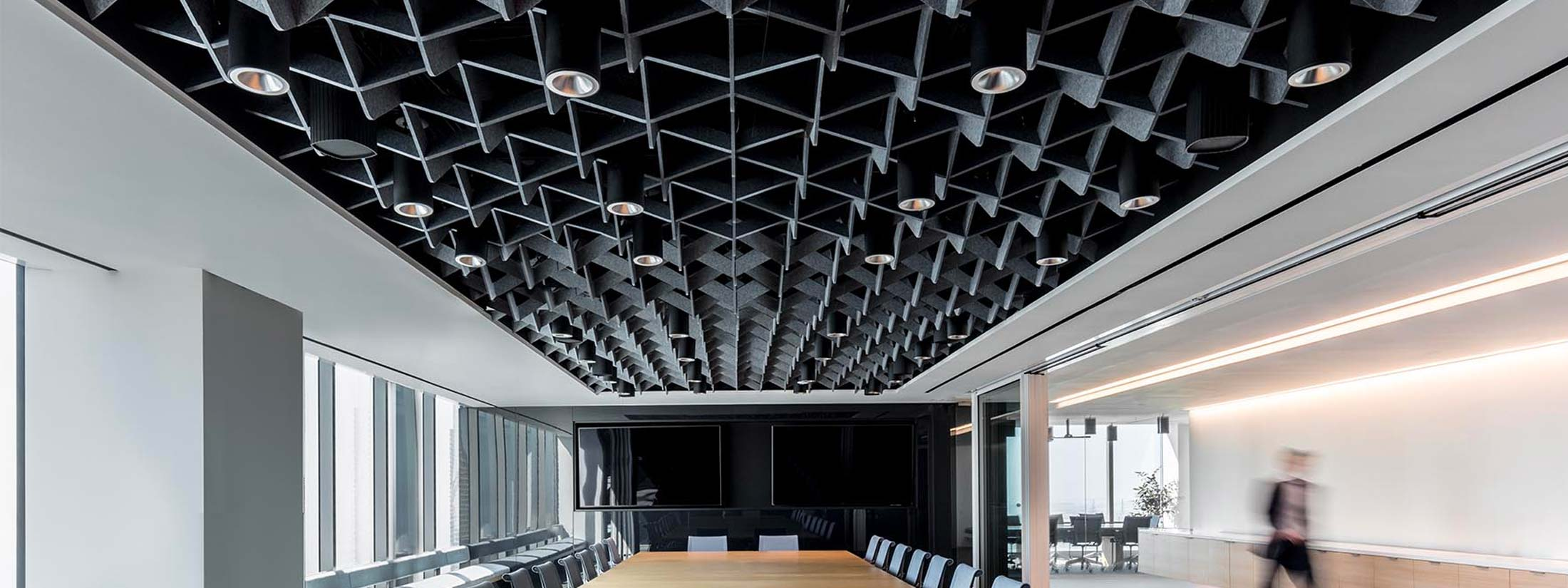 SoftGrid Wave Ceiling System by Arktura